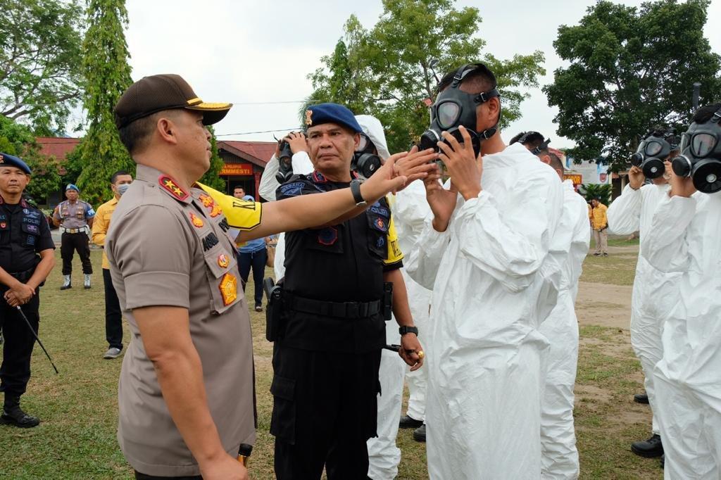 Polda Riau Gelar Apel Operasi Kontijensi Aman Nusa II Muara Takus 2020