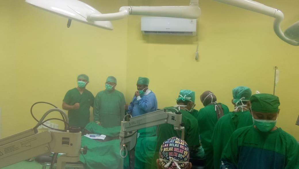 60 Orang Dapat Operasi Katarak Gratis RSUD DR RM Pratomo Rohil