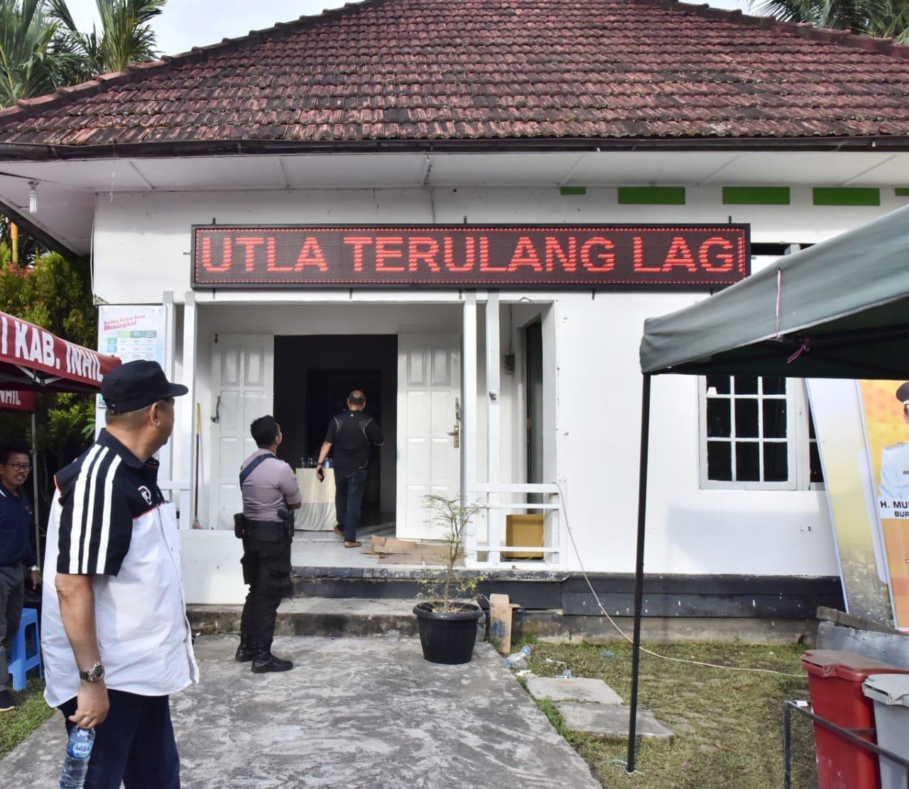 Wabup Inhil H Syamsuddin Uti Tinjau Persiapan Posko Karlahut TH 2020