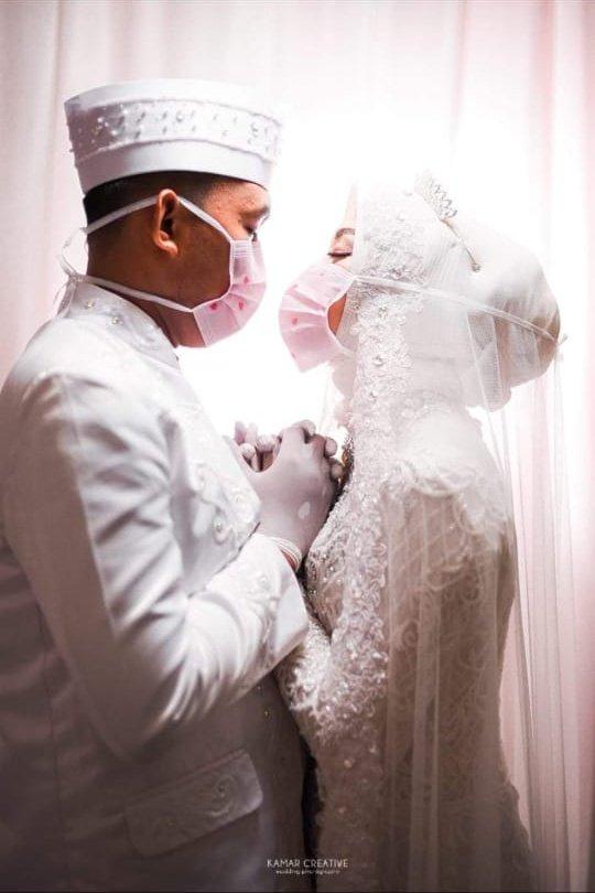 Gegara Corona, Pasangan Pengantin di Inhil Rela Tunda Resepsi