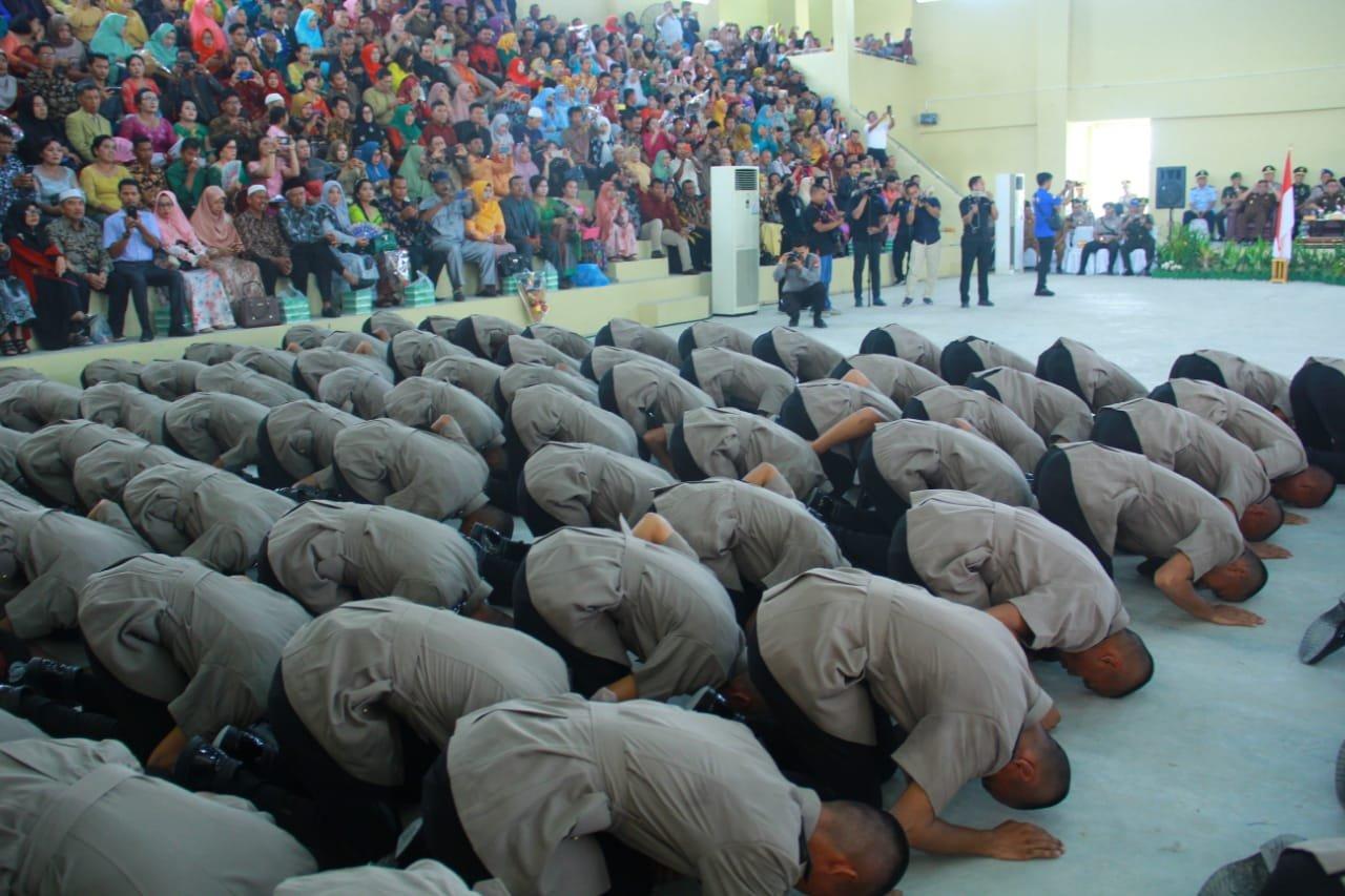 203 Bintara di Riau Dilantik, Anak Kepala Desa Jadi Sorotan