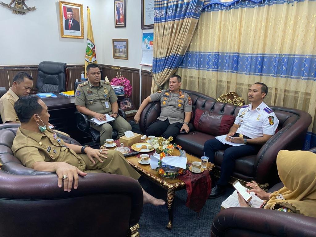 Polresta dan Pemko Pekanbaru Rapat Kordinasi Pencegahan Penyebaran Covid-19