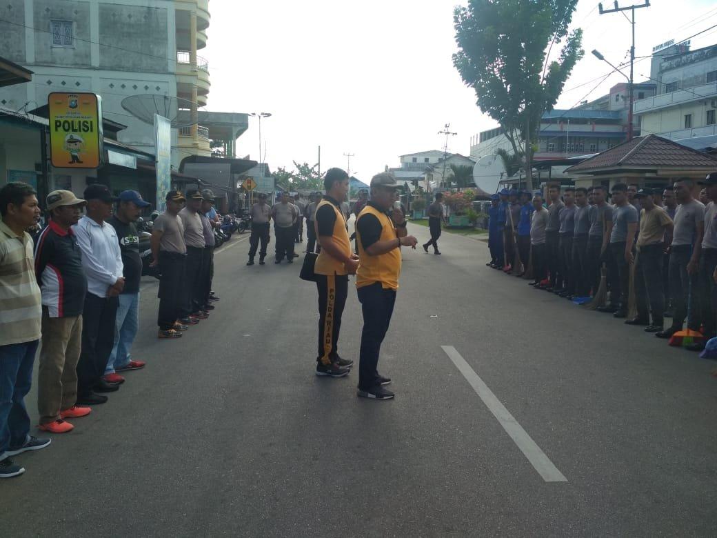Wujudkan Kota Bersih, Polres dan DLH Meranti Goro Bersama